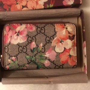 GG Supreme Blooms Card Case w/ Tags